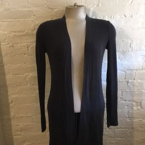 Eileen Fisher Ribbed Fitted Silk Cotton Cardigan